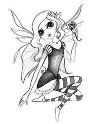 dark drawings but beautiful dark fairy by morningsadness