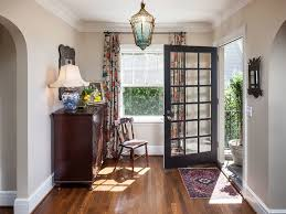 Curtains For Front Door Front Door Curtain Ideas Entry Farmhouse With Wood Floor Transom