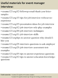 Event Coordinator Resume Sample Top Sample Resumes by Top 8 Event Manager Resume Samples