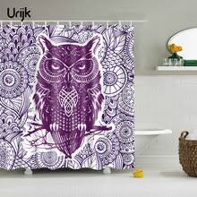 Owl Fabric Shower Curtain Compare Prices On Purple Fabric Shower Curtains Online Shopping