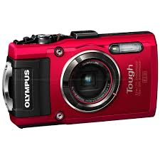 Rugged Point And Shoot Cameras Olympus Tough Tg 4 Ihs Waterproof Compact Camera Red