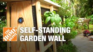 How To Build A Vertical Wall Garden by How To Build A Self Standing Garden Wall Youtube