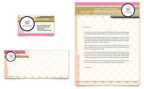 hairstylist business card u0026 letterhead template design