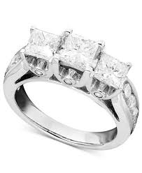 3 diamond rings three diamond ring in 14k white gold 3 ct t w rings
