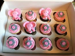 Elephant Decorations Cupcake Awesome Baby Shower Pink And Gray Elephant Theme Baby