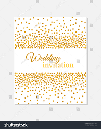Golden Wedding Invitation Cards Wedding Invitation Card Falling Golden Dots Stock Vector 332045174
