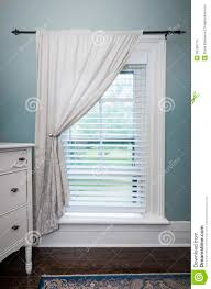 window with blinds and curtain royalty free stock images image