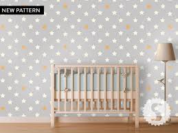 Removable by Wallpaper Temporary Removable Wallpaper Stars Nursery Baby