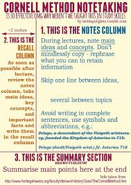 reviseordie a little guide to the u0027cornell note taking u0027 method