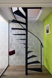 Free Standing Stairs Design Entrap Free Standing Staircase For Small Space With Black Iron