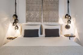 a luxury hotel in santorini revamped by interior design
