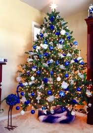 decoration blue and silver decorations tree