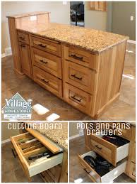 large drawers for pots and pans storage in this kitchen island
