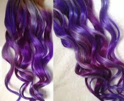 purple hair extensions purple ombre dip dyed hair clip in hair extensions tie dye