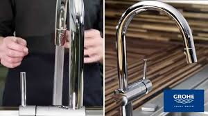 Touch Kitchen Faucet Grohe 31359 Dc0 Minta Touch Kitchen Faucets With Pullout Spray