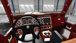 2014 kenworth w900 interior for kenworth w900 for american truck simulator
