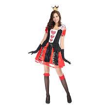 Halloween Costumes Aliexpress Buy Halloween Costumes Red Poker Queen