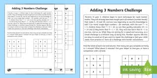 adding 3 numbers year 2 maths adding 3 numbers homework activity sheet year 2