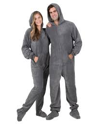 howling moon hoodie one hooded footed pajamas one