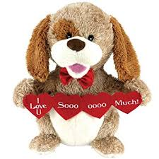 Singing Stuffed Animals Animated Puppy Plush Stuffed Animal Sings