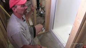 how to install a fiberglass shower youtube