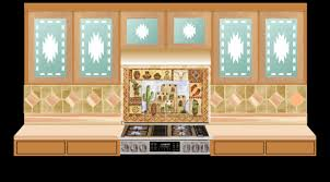 Kitchen Cabinet Glass For Southwestern Style Kitchens - Southwest kitchen cabinets