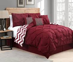 red pinch pleat comforter set u2013 ease bedding with style