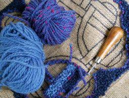 Crochet Rugs With Fabric Strips 531 Best Rugs Hooked And Penny Felted Wool Images On Pinterest
