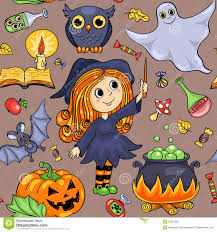 cartoon halloween background cute cartoon halloween seamless pattern stock vector image 50531287
