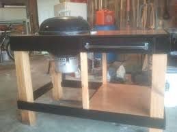 how to build a weber grill table grill table weber kettle weber grill station by mcwillystylez