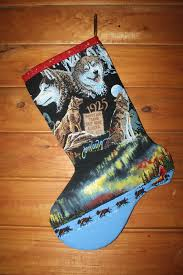 alaskan christmas stocking jon van zyle iditarod fabric art
