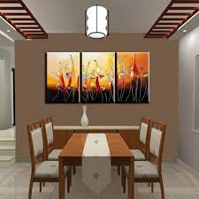painting for kitchen hand painted modern abstract bottle wine oleo 3 panel canvas
