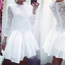 white lace splicing cutout back dress dresses party dresses