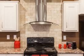 Kitchens With Stone Backsplash by Kitchen Backsplash Modern Stainless Steel Convertible Range Hood