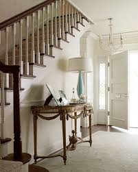 entryway entry chic floral table lighting flooring stairs