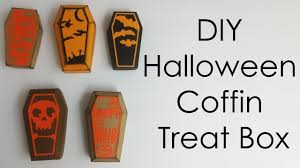 tutorial template diy halloween crafts coffin treat box youtube