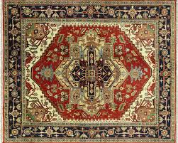 8x10 Red Area Rug Traditional Oriental Red Black 8x10 Heriz Serapi Hand Knotted Wool