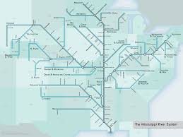 Transit Maps Of The World the mississippi river system as an urban transit map 22 words