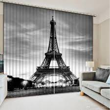 2017 home decor modern black and white 3d curtain fashion decor