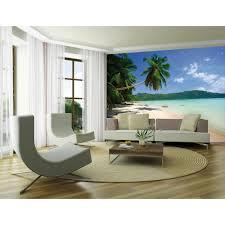 mural wallpaper murals photo murals i want wallpaper 1 wall dream beach tropical palm tree mural photo giant poster 3 15 x 2 32m