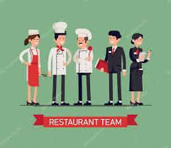 restaurant staff characters u2014 stock vector masha tace 102843142