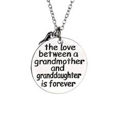 granddaughter necklace the between a grandmother and granddaughter is forever