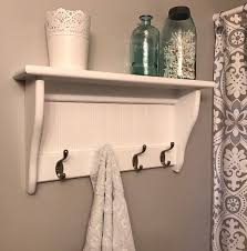 custom bead board shelf with hooks