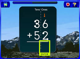 addition with and without regrouping touchmath software 2nd grade disc 1 addition two digit addition