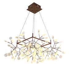 Bat Light Fixture Creative Tree Branch Led Pendant Light Post Modern Square 85cm