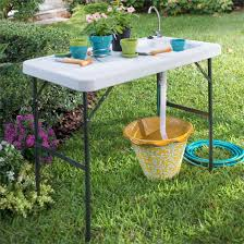 garden table with sink home outdoor decoration