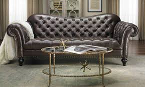 Livingroom Club by Limited Edition Vanna Top Grain Leather Club Sofa The Dump
