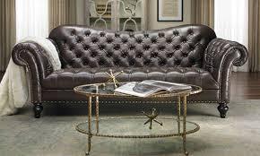 Livingroom Club Limited Edition Vanna Top Grain Leather Club Sofa The Dump