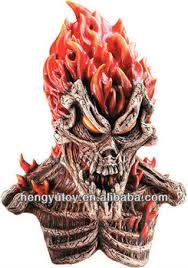 scary masks scary mask flaming skull masks deluxe inferno scary mask buy