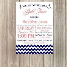 Nautical Bridal Shower Invitations Diy Printable Nautical Bridal Shower Invitation With Chevron